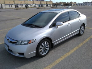 2011 Honda Civic EX-L (Leather) Sedan (4DR) With Only 69k KM