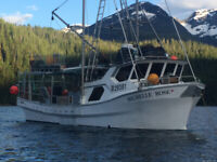 Crew wanted for prawn and salmon freezer vessel