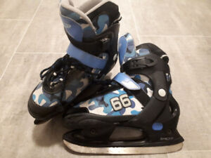 Kid's ice skates and roller blades