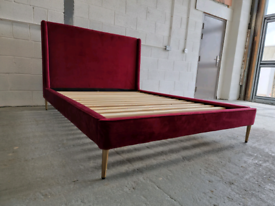 Ex. Shiraz Double Bed Frame - Red