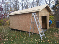 10' x 20' x 9' shed requires vinyl siding, soffit and facia