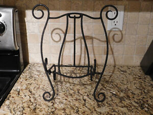 Wrought iron Cookbook/Tablet Computer Stand
