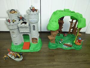Château et arbre avec figurines