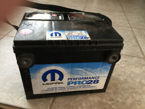 Batterie de Chrysler - GM (Légerement neg)