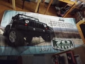 JEEP WRANGLER 70TH ANNIV. MASSIVE VINYL SHOWROOM BANNER 2011