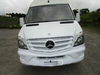 Mercedes Extra Long Extra High Race Van Auckland Camper with Large Garage
