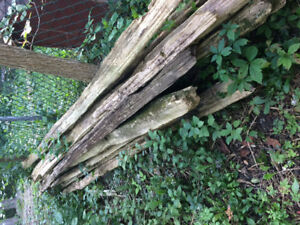 Old Cedar rails from farm fence