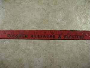 N.S. History!!! 1950s Rossiter Hardware & Electric Bedford Ruler