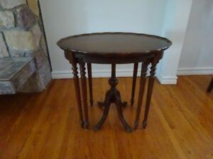 Solid Mahogany Nesting Tables - set of 3