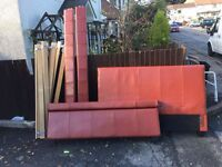 RED LEATHER DOUBLE BED FRAME ** FREE DELIVERY TONIGHT **
