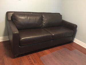 Brown Leather Couch - great condition, $200