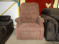 Brown fabric chair for sale
