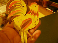 Tin Rooster Candle Hanger