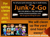 JUNK REMOVAL AT YOUR SERVICE