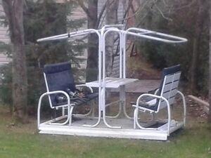 Balancoire aluminium terrasse et jardin dans qu bec for Balancoire exterieur costco