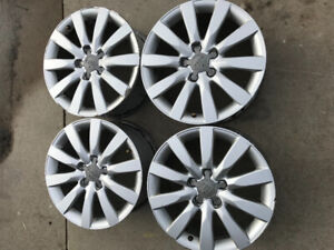"AUDI OEM RIMS AND 17"" TIRES"