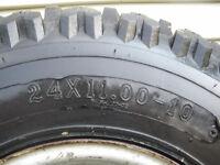 Pneus avec roues