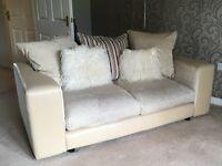 2 & 3 seater cushion backed sofa
