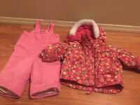 12M girl snow coat and snow pant