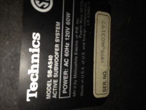Selling technics speakers with wiring and amp