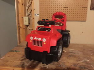 Moving Sale!!!Reduced! Mega blocks Ride on Jeep in great shape!