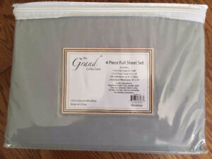 THE GRAND COLLECTION 4 PIECE FULL SHEET SET