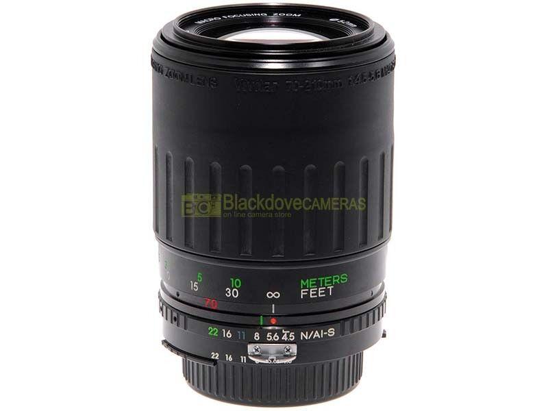 Nikon AI-S zoom Vivitar 70/210mm. f4,5-5,6 MC Macro 1:4, garanzia 12 mesi.