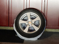 Snow Tires with Cast Al. Rims for Camry, etc.