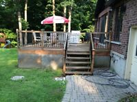 Deck railing posts and spindles