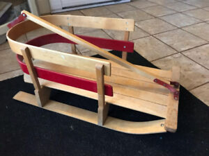 Kids Sled in Wood - Mint Condition