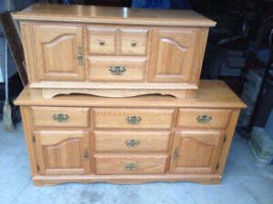Solid wood dresser and cedar chest