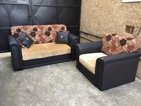2 seater pattern sofa / storage + single seater •free delivery •£75