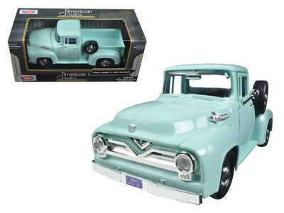1955 Ford F-100 Pickup Truck 1:24 Scale Diecast Model - Motormax 79341GRN*