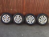 VW caddy golf genuine alloy wheels