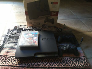 Sony Play station 3 console with 2 controllers and MLB 11