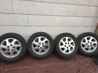 Four Aluminum Toyota Camry wheels and Michelin tires. 205/65/15 Kitchener / Waterloo Kitchener Area Preview