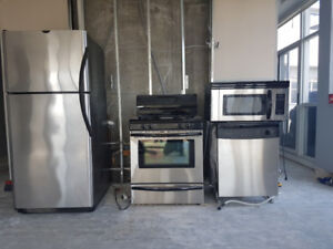 4 Frigidaire stainless steel appliances