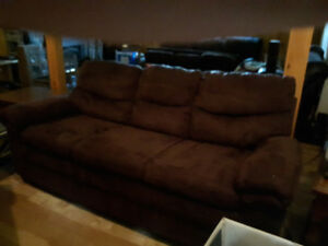 Good condition brown couches