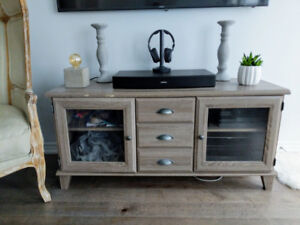 TV Stand - Media Unit - Brown with Gray Wash