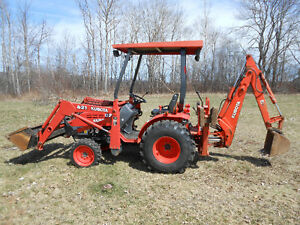 REDUCED:  Kubota B21 tractor with backhoe  $19,995
