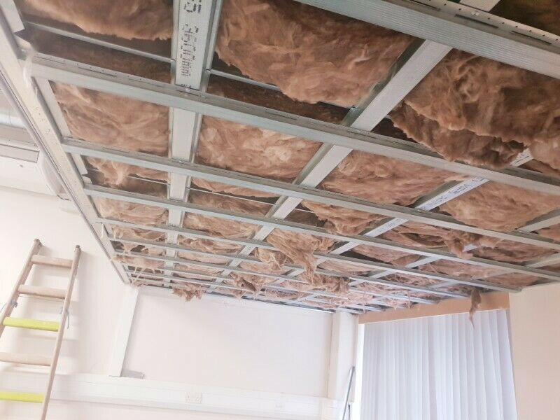 Mf ceilings and metal stud partition walls