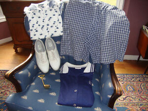 GOLF SHOES AND CLOTHES