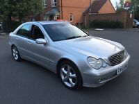 2003 Mercedes C Class 2.1 C220 CDi Avantgarde Automatic/Tiptronic, FULL SERVICE HISTORY, MOT MAY 17.
