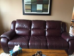 Pure Leather couch and chairs....