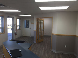 4 Offices, reception area and a boardroom on north end Red Deer