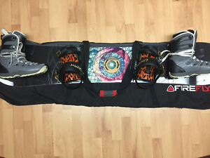 Board (RomeSDS-151+ Union bindings), Boots (Ride), Bag (Firefly)