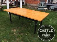 Harvest Table, Dining, Butcher Block, Entertaining, Vintage