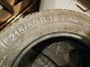 a vendre 4 gislaved continental 215 60r16 nord frost winter 100$