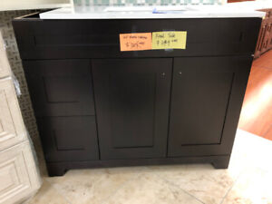 Espresso bathroom cabinets demos on CLEARANCE!!