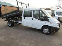 2013 Ford Transit 350 24k Double Crew Cab Tipper Steel Britt-Tip Drop-side Body